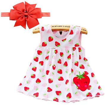 2017 Baby girl Dress summer girls dresses style infantile Dress hot sale baby girl clothes Summer flower style dress low price