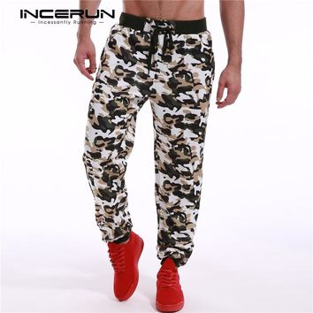 2018 Camouflage Sweatpants Men's Long Track Pants Army Camo Tactical Baggy Workout Pants Trousers Casual Joggers Sportswear