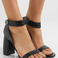 Stella McCartney - Croc-effect faux leather sandals