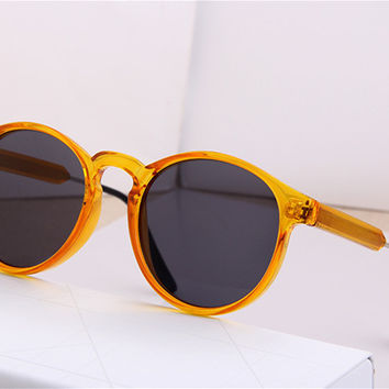 Fashion Vintage Sunglasses Retro Transparent Round Sunglasses for Men Women Sun Glasses Eyewear Eyeglasses