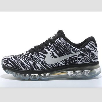 """NIKE"" Trending Fashion Casual Sports Shoes AirMax section Black white zebra"