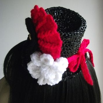 Halloween Costume Mini Top Hat Hair Fascinator