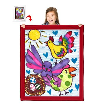 """Turn Your Child's Drawing into a 50"""" x 60"""" Polar Fleece Blanket"""