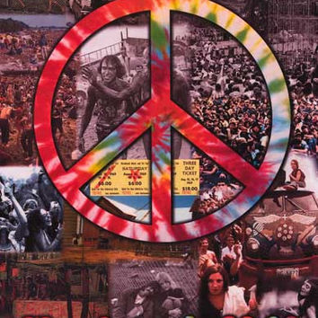 Woodstock Peace Symbol Concert Poster 11x17