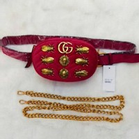 Gucci Waist Bag With Shoulder Bag Fasion Small Bag Lion head-Cute Cicada bag