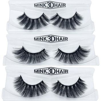 Eyelashes 3D mink eyelashes long lasting mink lashes natural dramatic volume eyelashes extension false eyelashes
