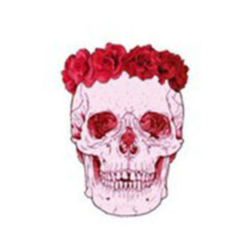 Floral Skull Decal