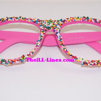 NEW  Candy Sprinkle Eye Wear     Wayfarer Frames