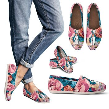 Floral Veterinarian Casual Shoes