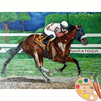 Horse Portraits - Racehorse Portrait of Wicked Strong 298