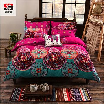 Sookie Full/Queen/King Size Bedding Sets Bohemian Style Reversible 4pcs Duvet Cover Sets Pillowcases Boho Comforter Covers 3pcs