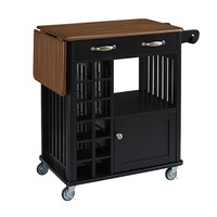 Home Styles Furniture 5252-95 Danville Black and Oak Kitchen Cart