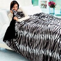 Safari Chic Faux Fur Bed Blankets