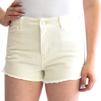 Downtown Vintage Short In White