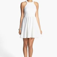 Bailey Blue Bow Back Textured Skater Dress (Juniors)
