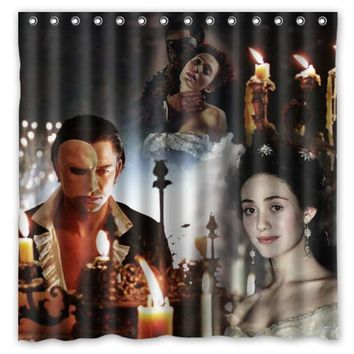 Musical The Phantom of the Opera Printed Bath Shower Curtains Waterproof Polyester Fabric Curtain For The Bathroom with 12 Hook