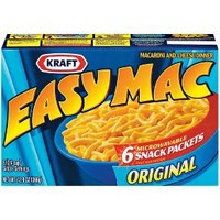 Kraft Easy Mac Original Macaroni & Cheese Dinner 12.9 oz 6 ct