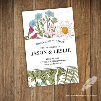 Wildflower Wedding Save the Dates