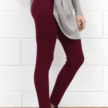 Favorite Comfy Leggings {Burgundy}