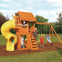 Cedar Summit Grandview Deluxe Wooden Swing Set