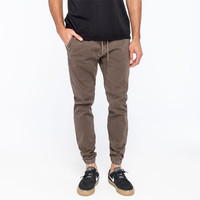House Of Triot Mens Twill Jogger Pants Taupe  In Sizes