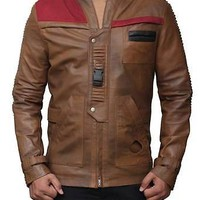New Finn Star Wars The Force Awakens John Boyega Leather Jacket - Best Deal