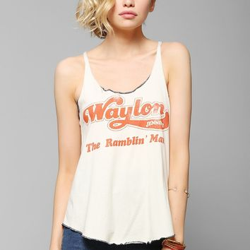 Midnight Rider Waylon Jennings Tank Top - Urban Outfitters