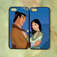 Mulan and Shang Couple Cases-iPhone 5, iphone 4s, iphone 4 case, Samsung GS3-Silicone Rubber or Hard Plastic Case, Phone cover