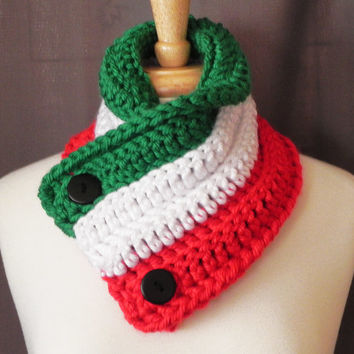 Italy ( Hetalia ) Button Neck Warmer