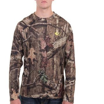 Realtree and Mossy Oak Men's Long Sleeve Performance Camo Tee - Walmart.com