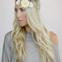 Feathers + Flowers Head Piece