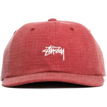 Washed Ripstop Low Pro Cap Red