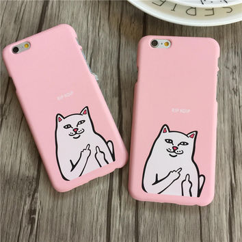 Fashion RIPNDIP Pink Iphone 7 7plus& 6 6s Plus & 5s Cover Case + Gift Box