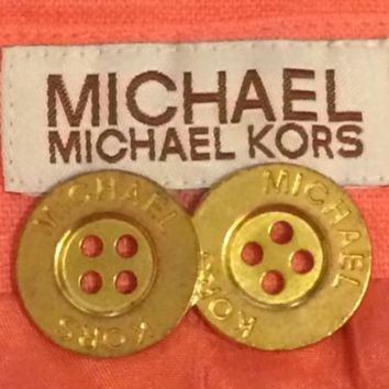 Michael Kors Blazer Suit Jacket Replacement Buttons Set Lot 2 Gold Metal 4 holes