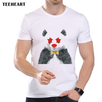 Men's Star Eyes Panda Cute Printed Designer T-Shirt Male High Quality Cool Summer Modal Animal Top Tees
