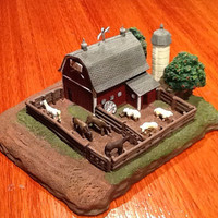 "Vintage collectible Iowa Farm Bureau Foundation mini/model farm figurine. First piece in a planned series of five. Marked ""6 of 1260""."