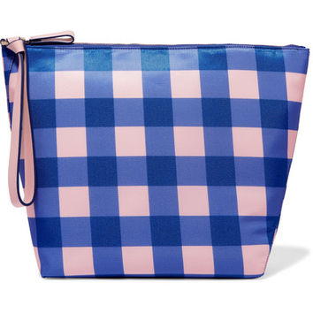 Diane von Furstenberg - Origami gingham coated-canvas clutch