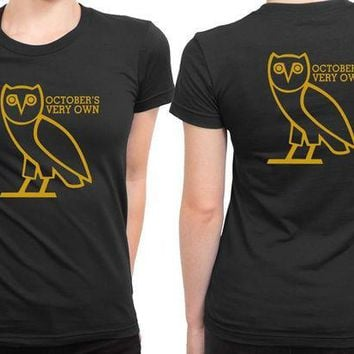 ESBH9S Ovo Owl Cover Logo 2 Sided Womens T Shirt