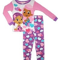 Bubble Guppies Toddler Girls 12m-5t Cotton Pajama Set (12m)