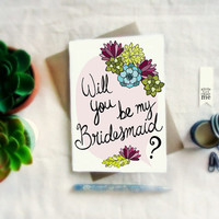 Will you be my bridesmaid Card. Bridesmaid cards. Bridesmaid Proposal. BC205