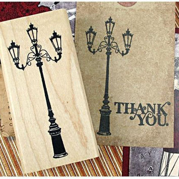 Vintage lighting  Wooden Rubber vitage lamp Stamp antique lighting Diy vintage postcard handmade card deco special card gift tag art tool