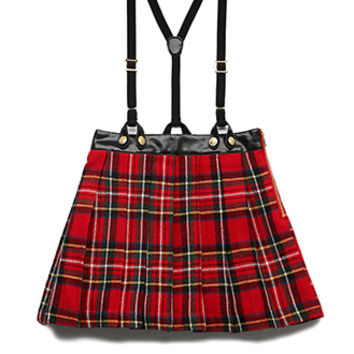 Darling Plaid Overall Skirt (Kids)