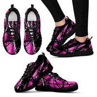 Super Cute Hot Pink Camo Tennis Shoes