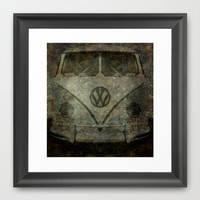 VW Ghost Kombi Framed Art Print by Bruce Stanfield