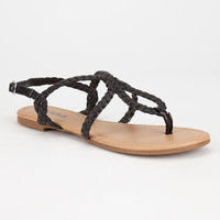 Soda Durham Womens Sandals Black  In Sizes