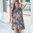 Down To Earth Dress in Brown