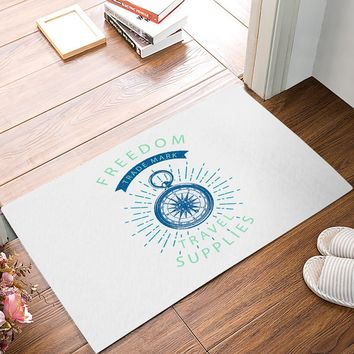 Autumn Fall welcome door mat doormat dom Travel Navy Blue Compass Lines s Floor Entrance Rug Mat Indoor Bathroom Kitchen Farmhouse Home Decor  AT_76_7
