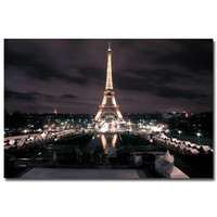 Eiffel Tower City Night Citycape Art Silk Poster Print 12x18 20x30 24x36 inches Modern Living Room Decor 12