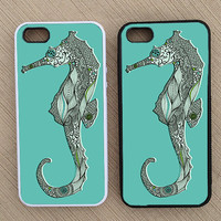 Cute Hipster Seahorse iPhone Case, iPhone 5 Case, iPhone 4S Case, iPhone 4 Case - SKU: 181