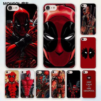 Deadpool Dead pool Taco MOUGOL anime Avengers  series design hard clear Case Cover for Apple iPhone 7 6 6s Plus SE 4s 5 5s 5c Phone Case AT_70_6